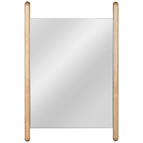 """Cooper Classics Coraline Natural Wood 24"""" x 36"""" Wall Mirror"""