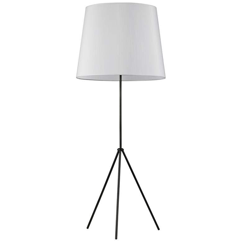 Finesse Matte Black Floor Lamp with Large JTone