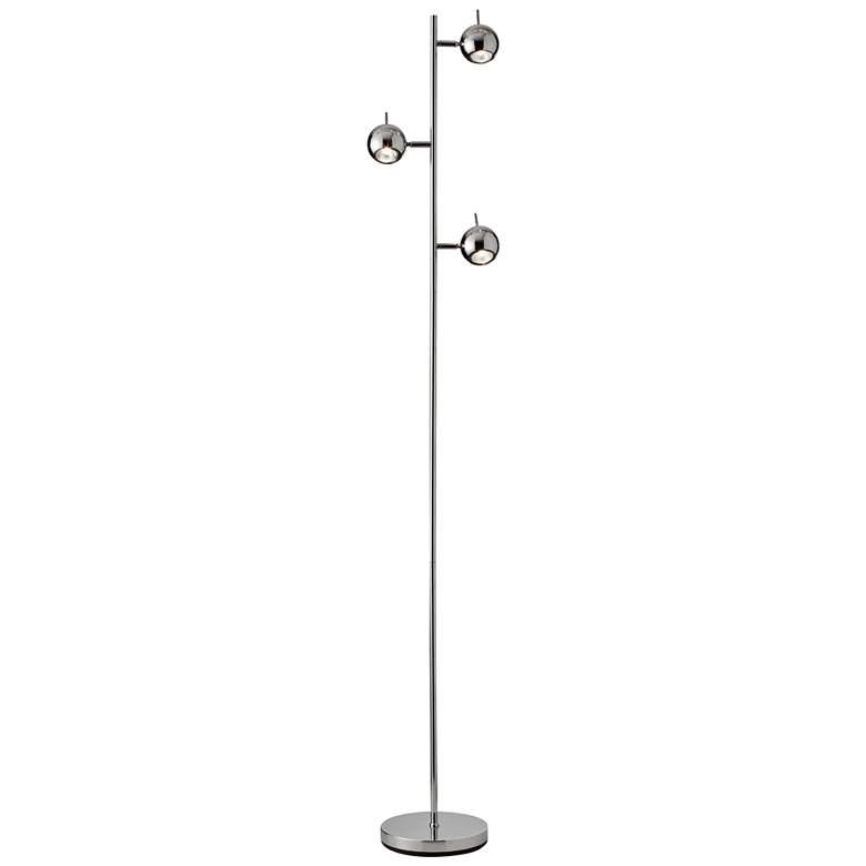 Metron Polished Chrome 3-Light Spotlight Tree Floor Lamp