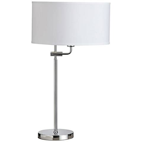 Crawford Polished Chrome Adjustable Table Lamp