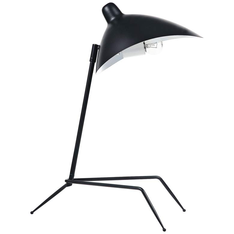 Razzo Matte Black Tripod Desk Lamp