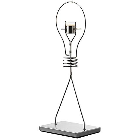 "Thermo Polished Chrome 17"" High LED Accent Table Lamp"
