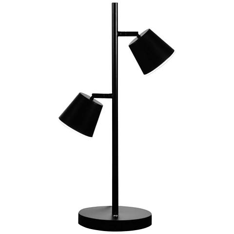 Andrews Matte Black 2-Light LED Accent Table Lamp
