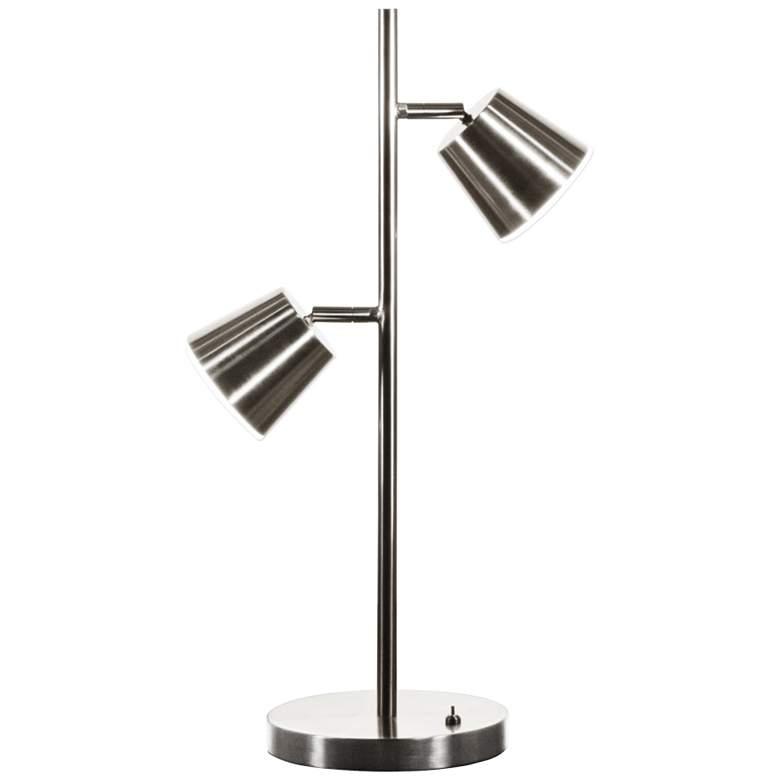 Andrews Satin Chrome 2-Light LED Accent Table Lamp