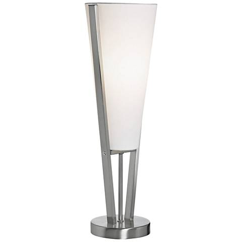 """Emotions 19"""" High Satin Chrome Accent Table Lamp"""