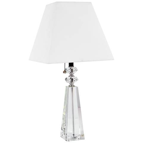 """Ebb 19 1/2"""" High Crystal Accent Table Lamp with Pull Chain"""