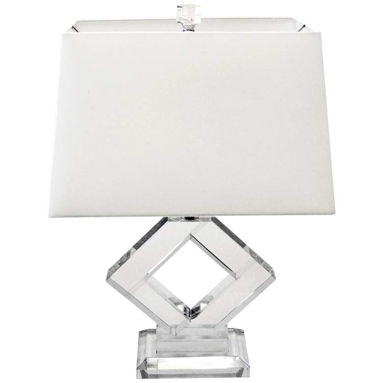 Graphic Polished Chrome Accent Table Lamp