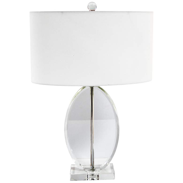 Cannes Polished Chrome with Crystal Table Lamp