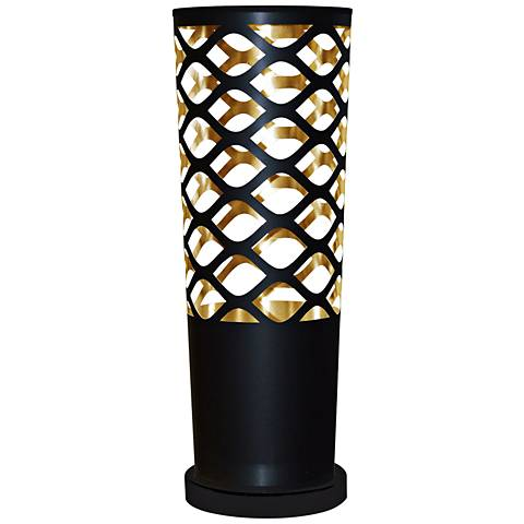 Cut Out JTone Black and Gold Accent Table Lamp