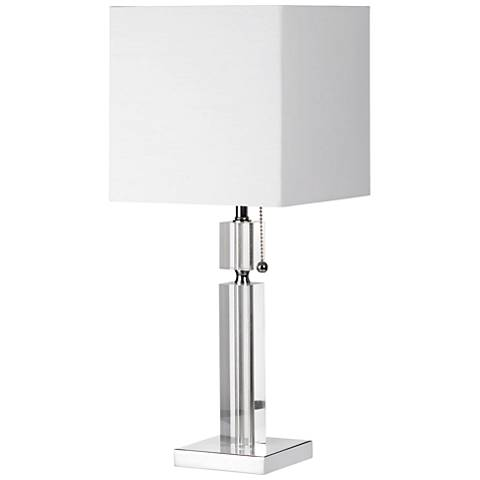 "Asplund 19""H Polished Chrome Table Lamp w/ Acrylic Accents"