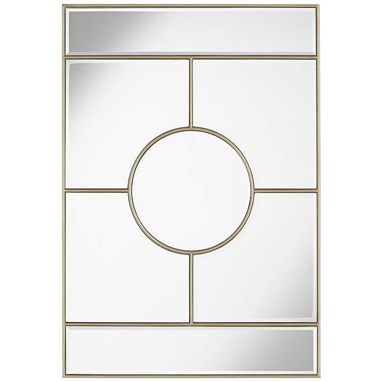 """Possini Euro Linda Silver 28"""" x 40"""" Deco Wall Mirror"""
