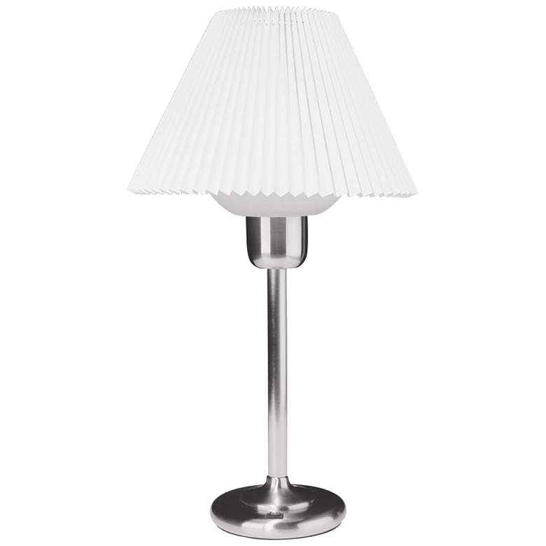 Quip Satin Chrome Metal Table Lamp with 200 Watt Bulb