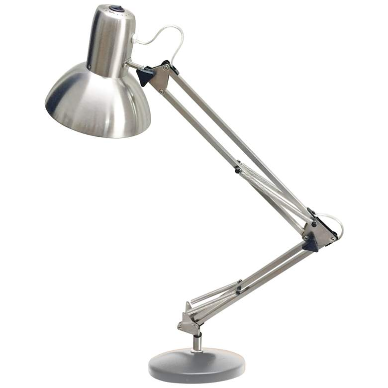 Bureau Satin Chrome Adjustable LED Desk Lamp
