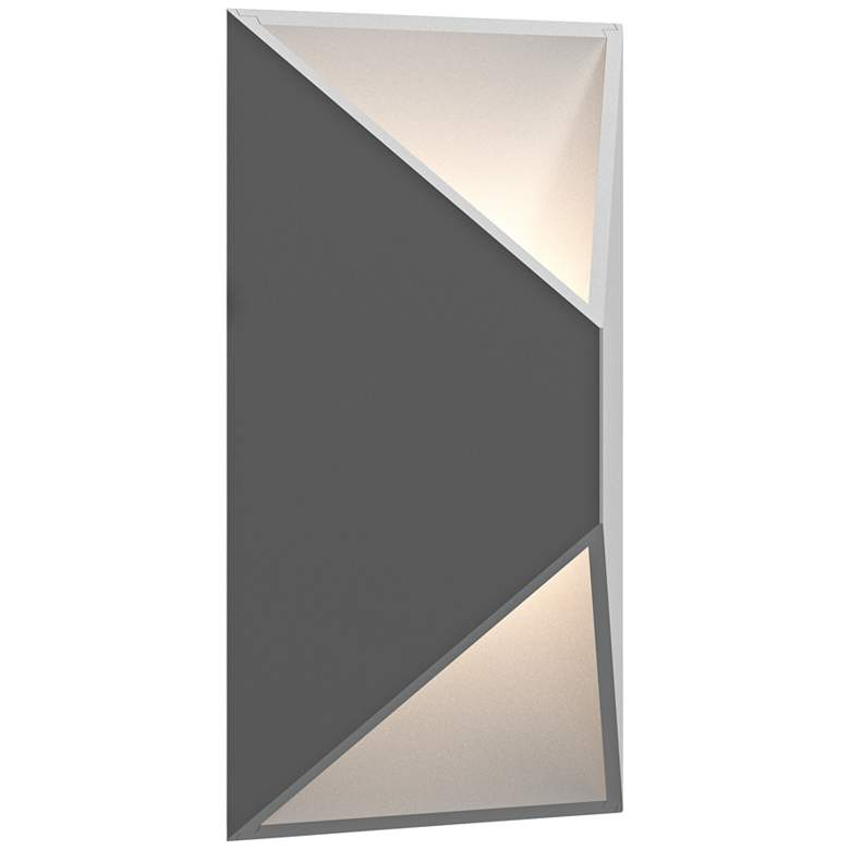 "Inside Out Prisma™ 11"" High Gray LED Outdoor Wall Light"