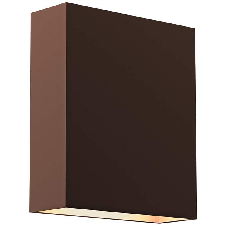 "Inside Out Flat Box 7"" High Bronze LED Outdoor Wall Light"