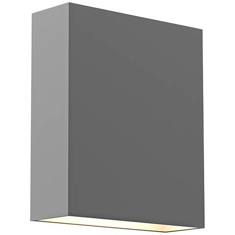 """Inside Out Flat Box™ 7"""" High Gray LED Outdoor Wall Light"""