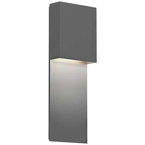 """Inside Out Flat Box™ 17"""" High Gray LED Outdoor Wall Light"""