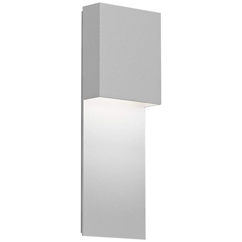 Inside Out Flat Box 17 High White Led Outdoor Wall Light