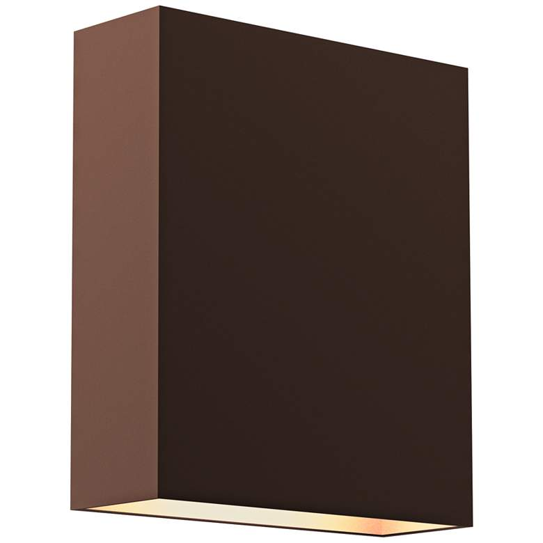 """Inside Out Flat Box™ 7""""H Bronze 2-LED Outdoor Wall Light"""