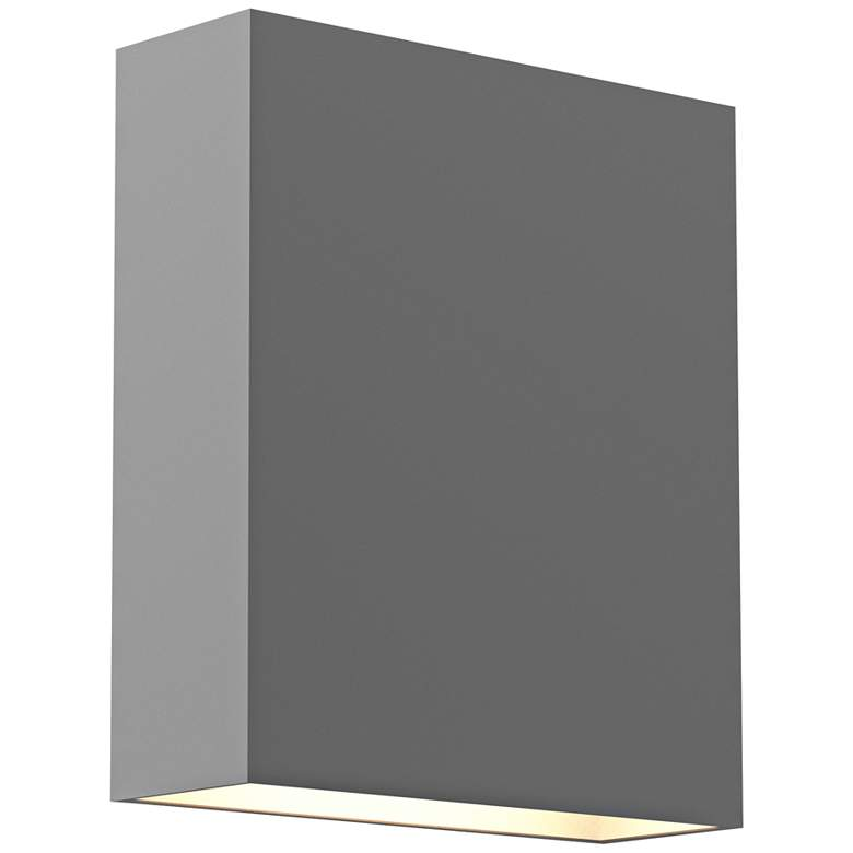 "Inside Out Flat Box™ 7"" High Gray 2-LED Outdoor Wall Light"