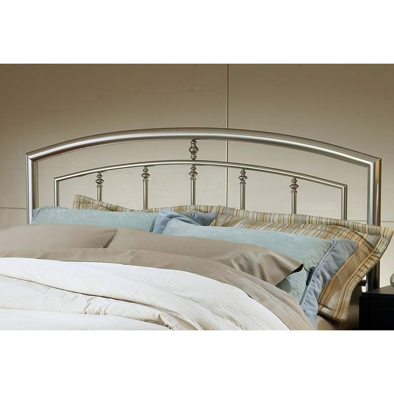 Hillsdale Claudia Matte Nickel Metal King Headboard