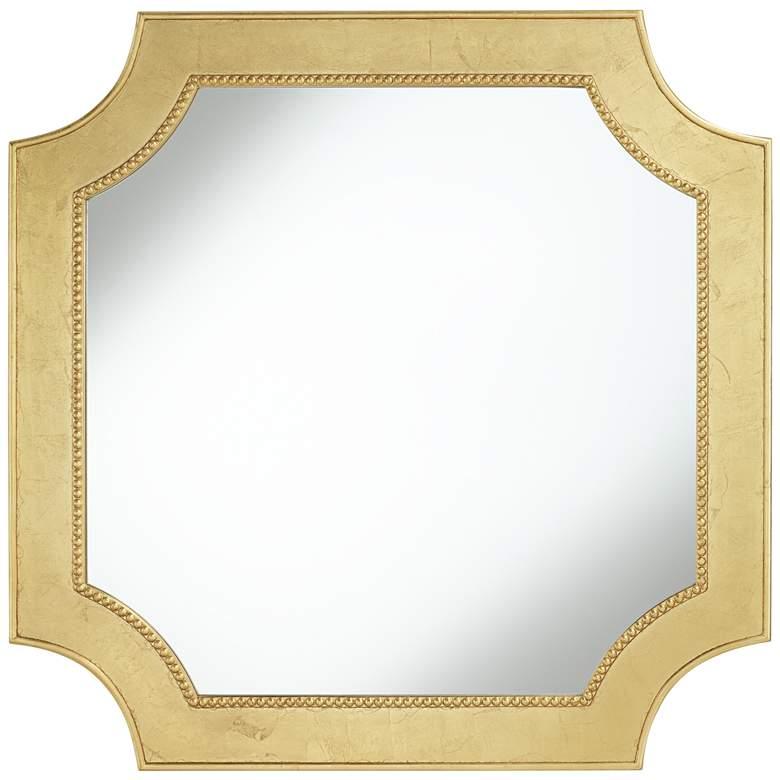 "Trixie Gold Leaf 39 1/2"" Square Cut Corner Wall Mirror"
