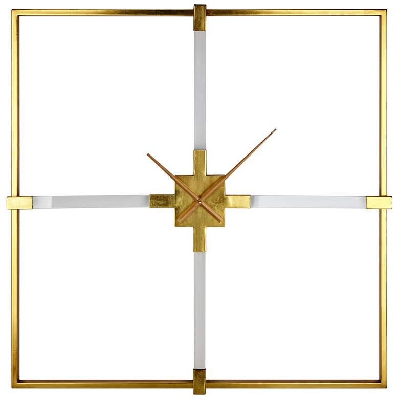 """Esteri Gold 36"""" Square Acrylic Wall Clock"""