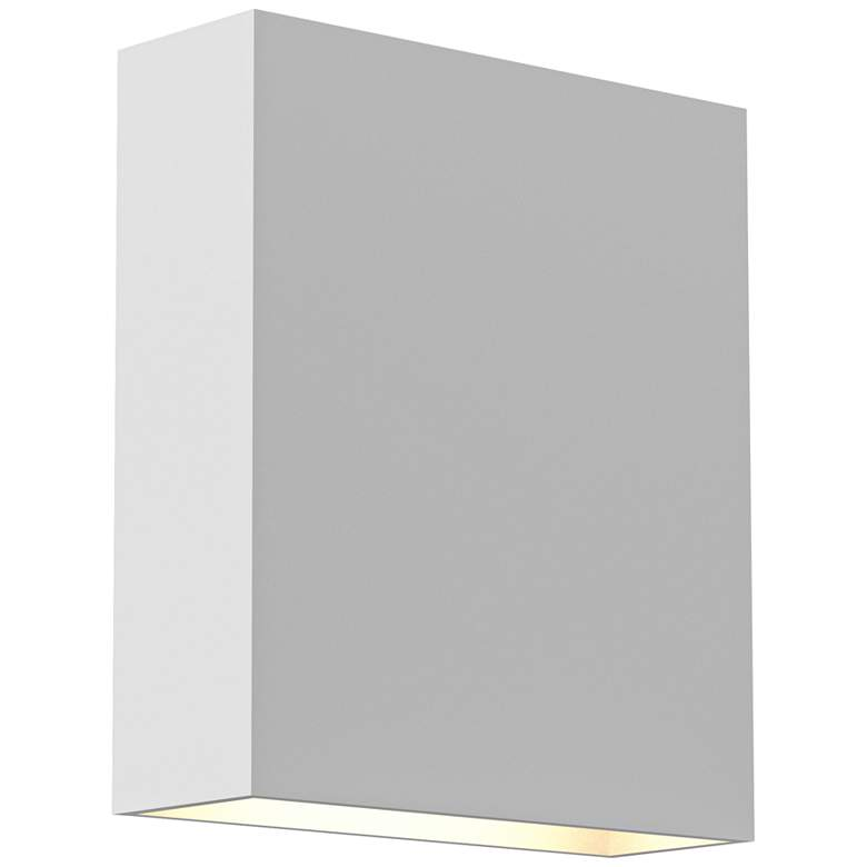 "Inside Out Flat Box 7"" High White 2-LED Outdoor Wall Light"
