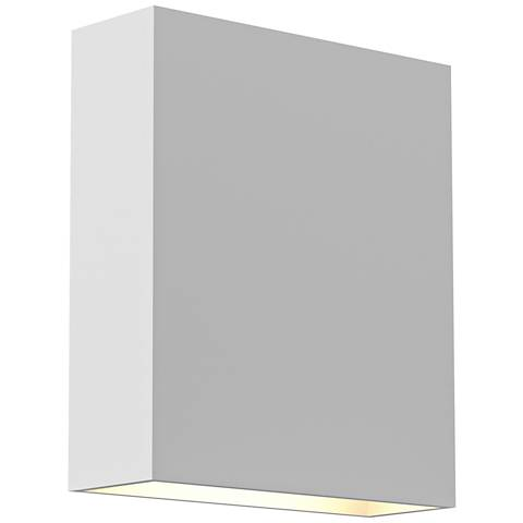 """Inside Out Flat Box™ 7"""" High White 2-LED Outdoor Wall Light"""