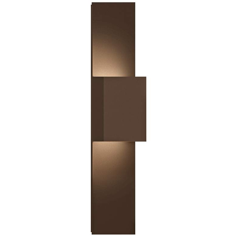 """Inside Out Flat Box™ 25""""H Bronze 2-LED Outdoor Wall Light"""