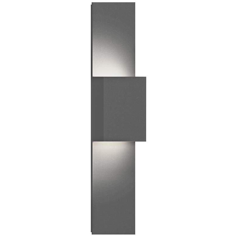"Inside Out Flat Box 25"" High Gray 2-LED Outdoor Wall Light"