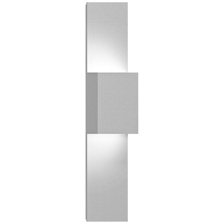 """Inside Out Flat Box 25""""H White 2-LED Outdoor Wall Light"""