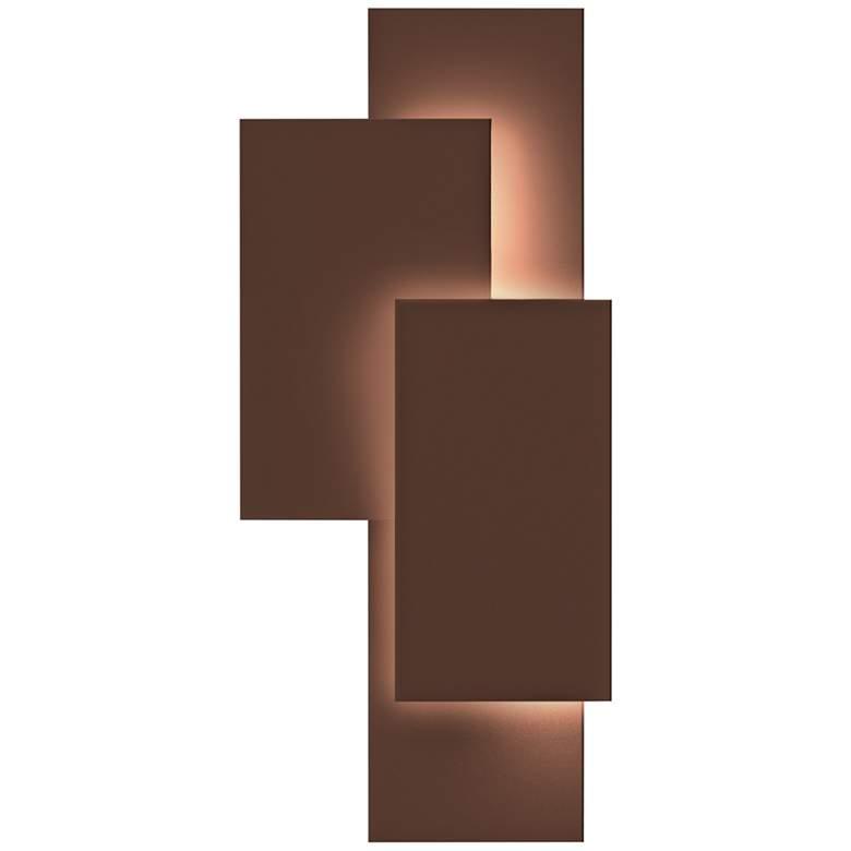 """Inside Out Offset Panels™ 20 3/4""""H Bronze LED"""