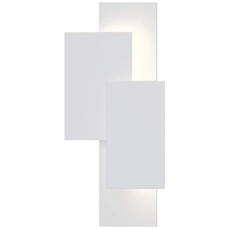 "Inside Out Offset Panels™ 20 3/4"" High White LED Wall Light"