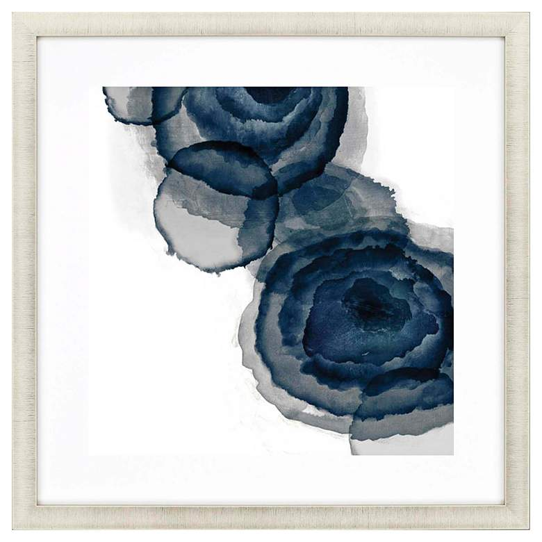 """Blotted Ink I 35"""" Square Framed Giclee Wall Art"""
