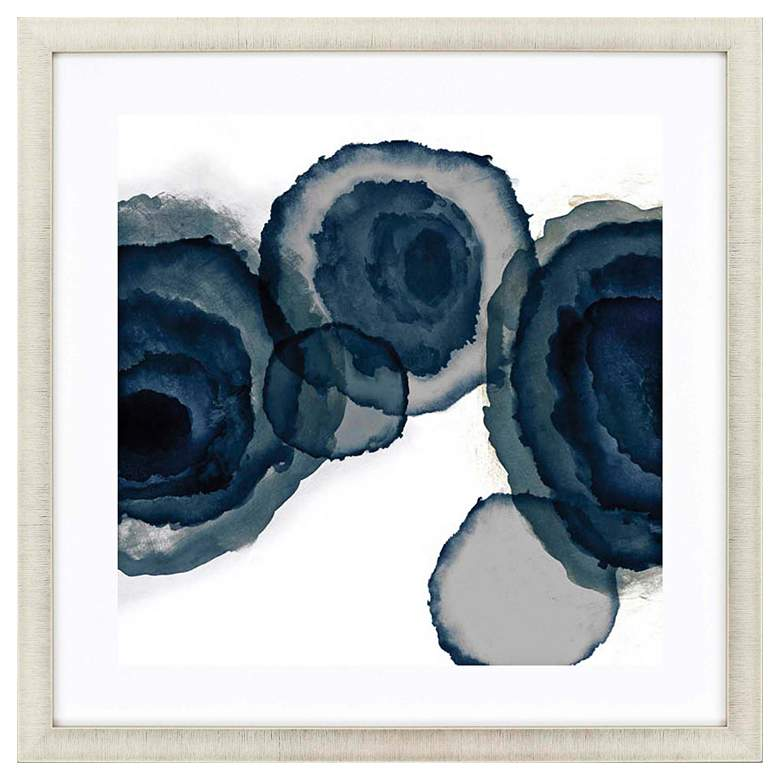 "Blotted Ink II 35"" Square Framed Giclee Wall Art"