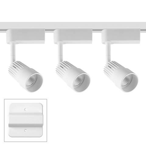 3-Light White Swivel Head LED Floating Canopy Track Kit