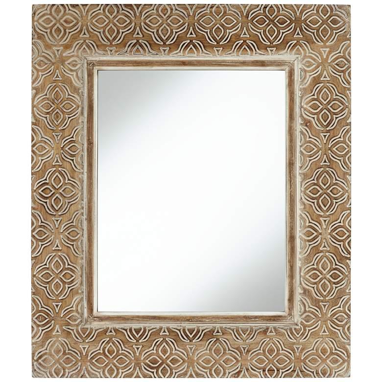 "Georgina Wood 29 1/2"" x 34 1/2"" Rectangular Wall Mirror"