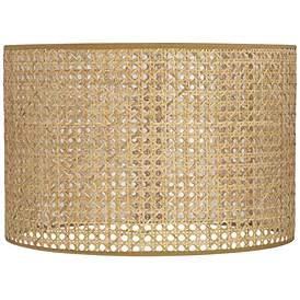 Lattice Rattan Drum Lamp Shade 15x15x10 Spider