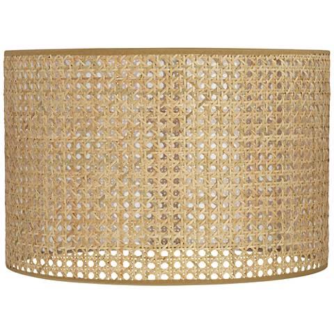 Lattice Rattan Drum Lamp Shade 15x15x10 (Spider)