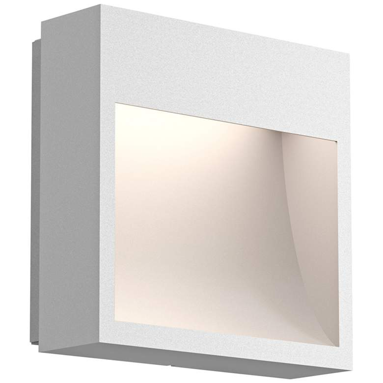 "Inside Out Square Curve™ 7""H White LED Outdoor Wall Light"