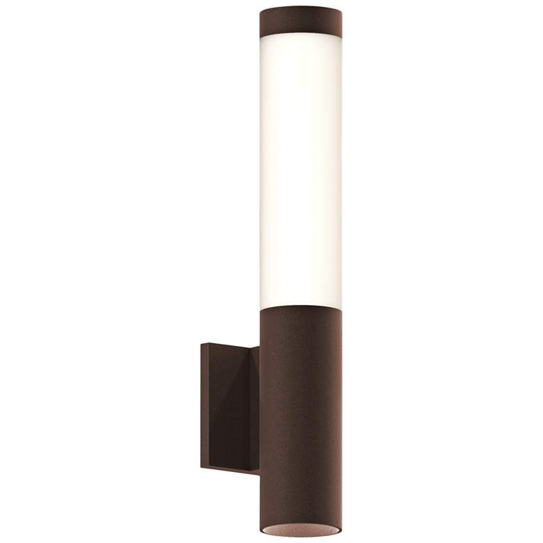 """Inside Out Round Column™ 19""""H Bronze LED Outdoor Wall Light"""