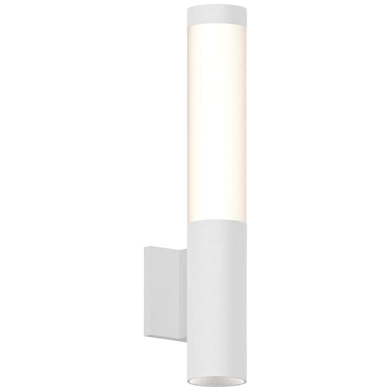 "Inside Out Round Column™ 19""H White LED Outdoor Wall Light"
