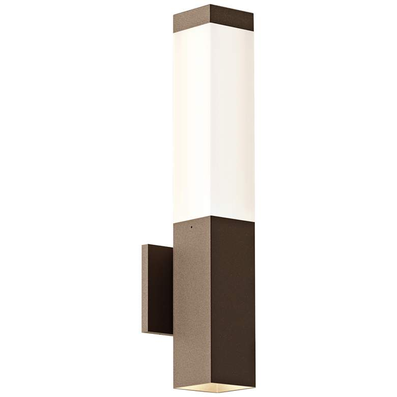 """Inside Out Square Column™ 19 1/2""""H Bronze LED Wall Light"""
