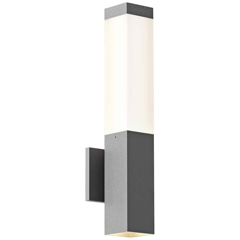"Inside Out Square Column™ 19 1/2"" High Gray LED Wall Light"