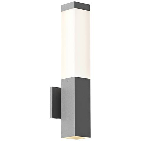 """Inside Out Square Column™ 19 1/2"""" High Gray LED Wall Light"""