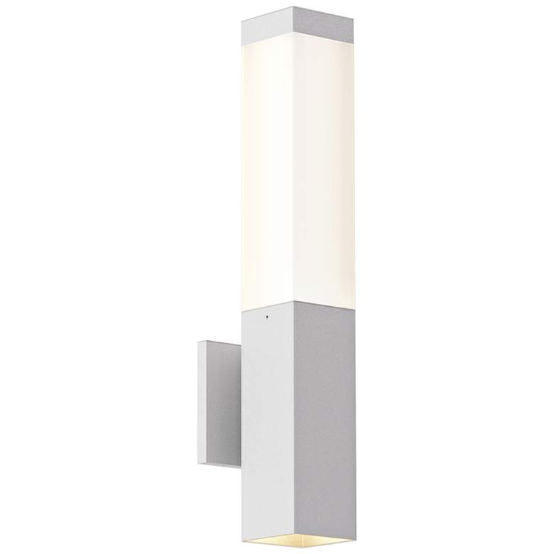 "Inside Out Square Column™ 19 1/2"" High White LED Wall Light"