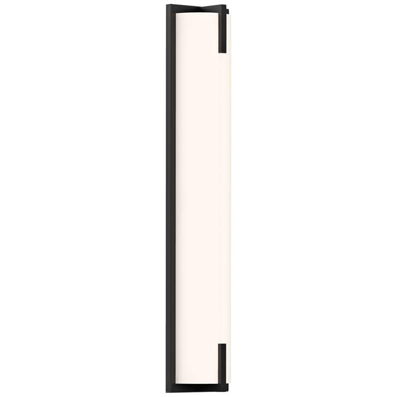 "Sonneman New Edge™ 24"" High Satin Black LED Wall Sconce"
