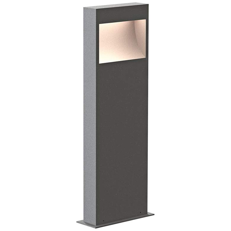 """Inside Out Square Curve 22"""" High Textured Gray LED Bollard"""