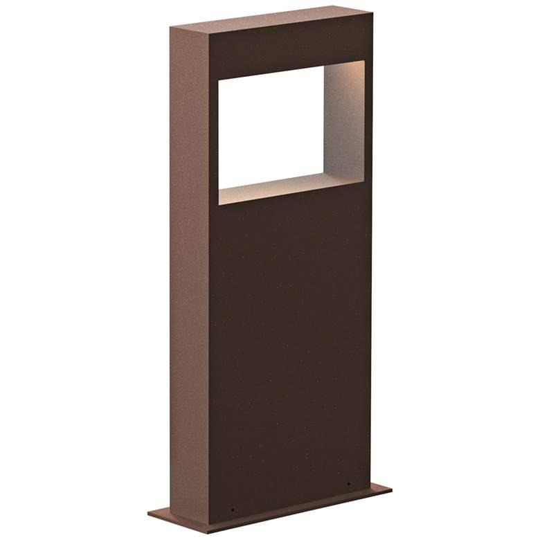 """Inside Out Light Frames 16""""H Textured Bronze LED Bollard"""